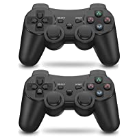 PS3 Controller 2 Pack Wireless Motion Sense Dual Vibration Upgraded Gaming Controller for Sony Playstation 3 with…