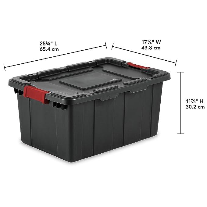 Amazon.com: Sterilite 14649006 caja industrial de 15 galones ...