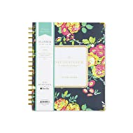 """Day Designer for Blue Sky 2018-2019 Academic Year Weekly & Monthly Planner, Hardcover, Twin-Wire Binding, 7"""" x 9"""", Peyton Navy Floral Design"""