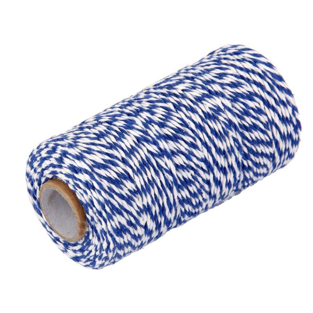 luoem 100/M de cuerda de algod/ón Bakers Twine Cord azul + blanco