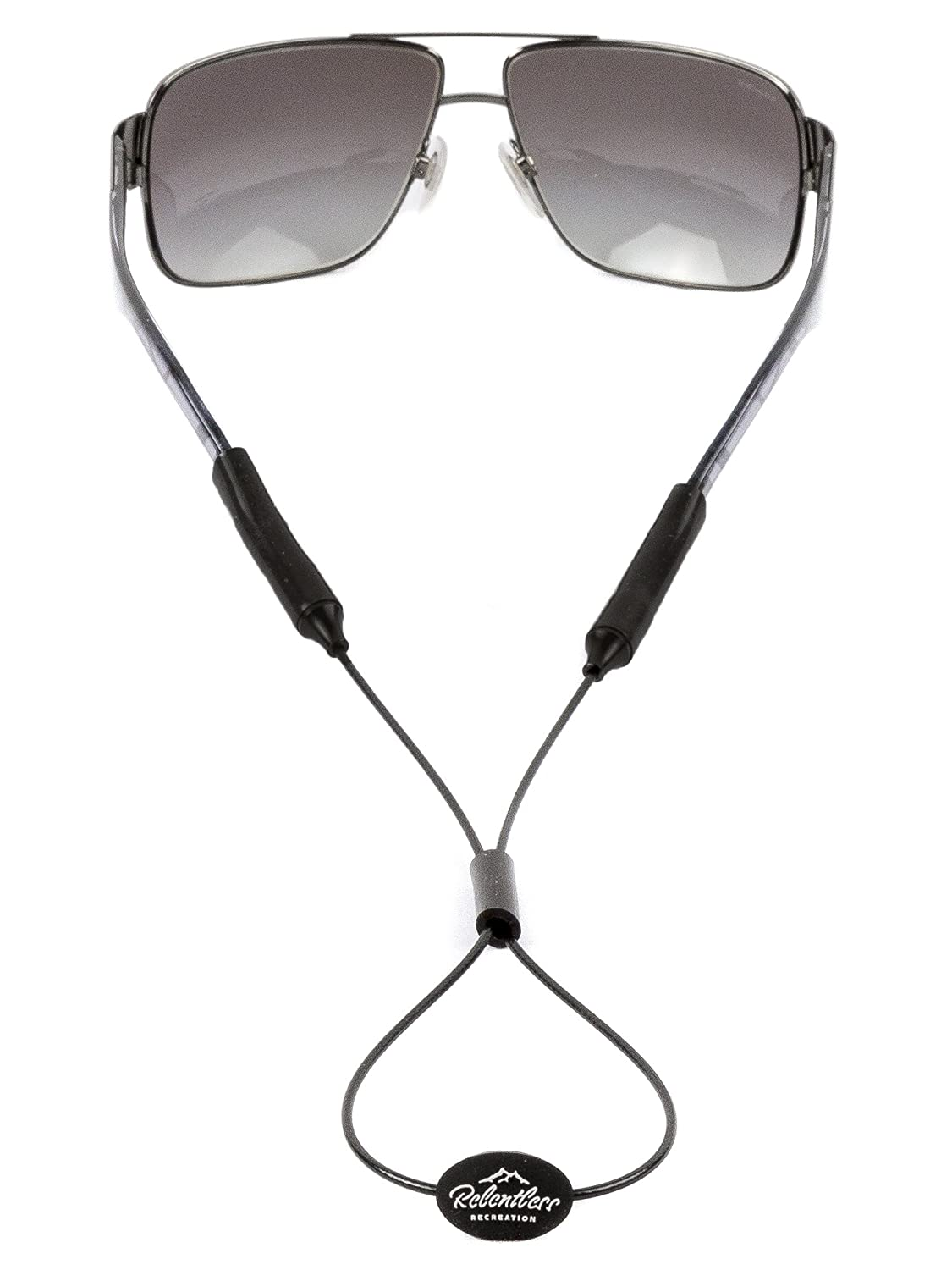Rec-Strapz Sunglass Straps/Eyewear Retainers - Made in USA - Universal Fit Black - Adjustable