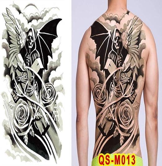 Handaxian 2pcs Hombres Tatuaje dragón Espalda Tatuaje Grande ...