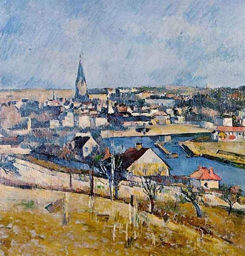 Bricolaje digital famosos cuadros Paul Cezanne Francia paisaje isla personas paisaje pintura al óleo decoración del hogar para sala de estar obras de arte40 * 50 cm