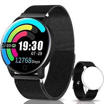 NAIXUES Smartwatch, Reloj Inteligente IP67 con Presión Arterial, 10 Modos de Deporte, Pulsómetro, Monitor de Sueño, Notificaciones Inteligentes, ...
