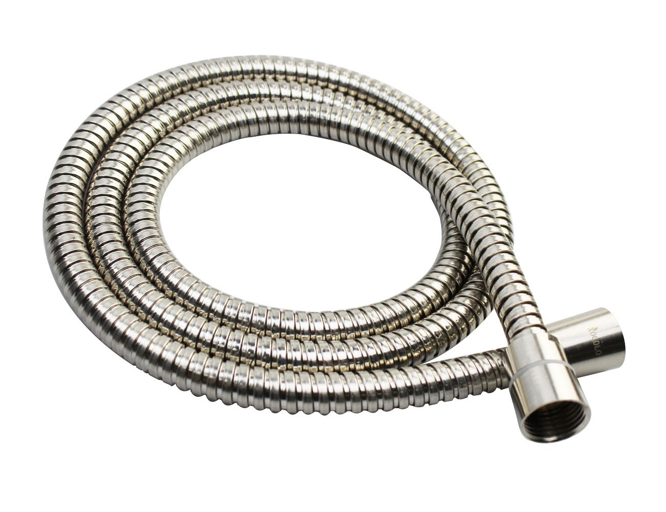 Xogolo 79inch Stainless Steel Shower Hose with Water Restrictor, Brushed Nickel
