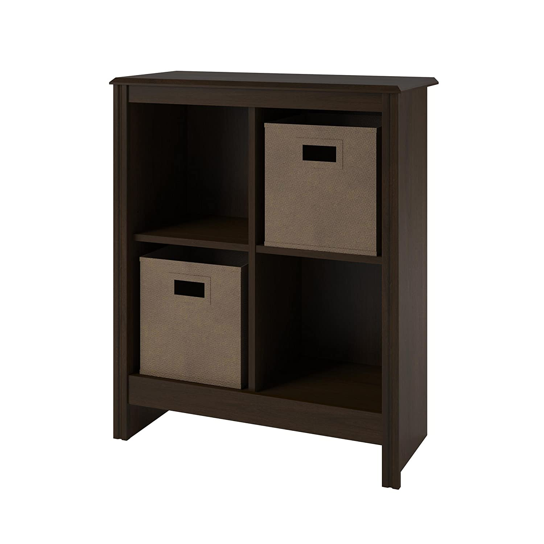 Amazon.com: Altra 4 Cube Storage Cubby Bookcase With 2 Storage Bins, Resort  Cherry Finish: Kitchen U0026 Dining