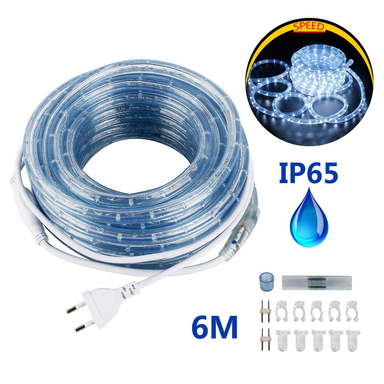 6M SPEED 50Meter LED Lichterschlauch Lichterkette Schlauch Leiste Außen und Innen