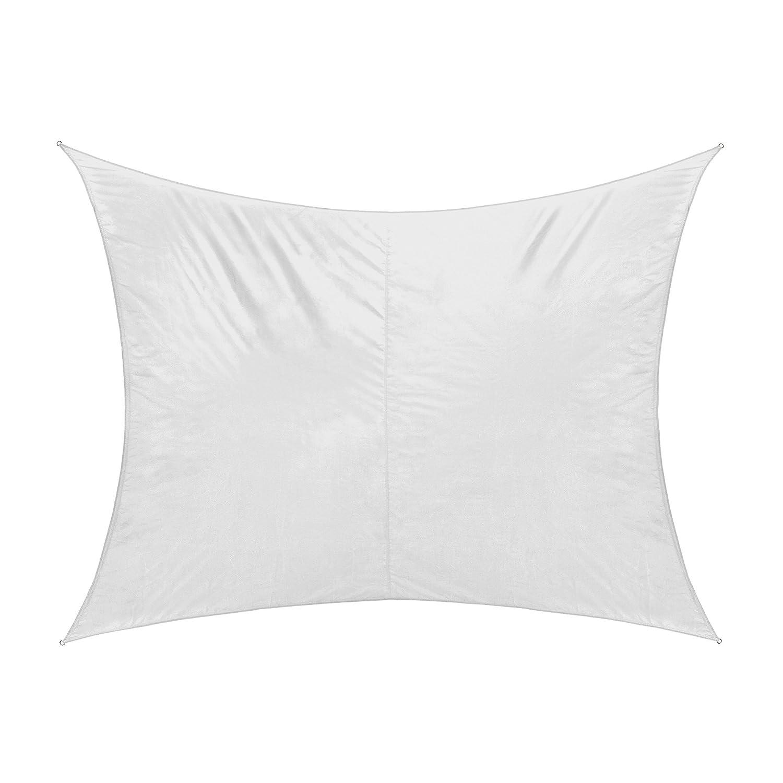 Jarolift Tenda a vela rettangolare idrorepellente, 400 x 300 cm, bianco crema