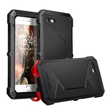 Funda iPhone 8/7 Yarrashop Antigolpes a prueba de polvo Metal Estuche Protectora Negro