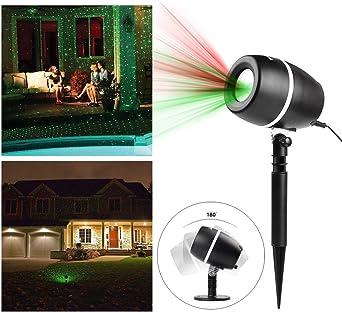 isingo LED Efecto De Luz, LED verde rojo exterior LED Foco RGB Interior/Exterior IP65 3