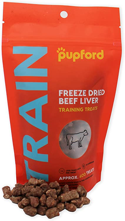 Pupford Freeze-Dried Training Treats from 450 Treats Per Bag, Low Calorie, The Perfect High Value Training Reward (Comes in Beef Liver, Sweet Potato & ...