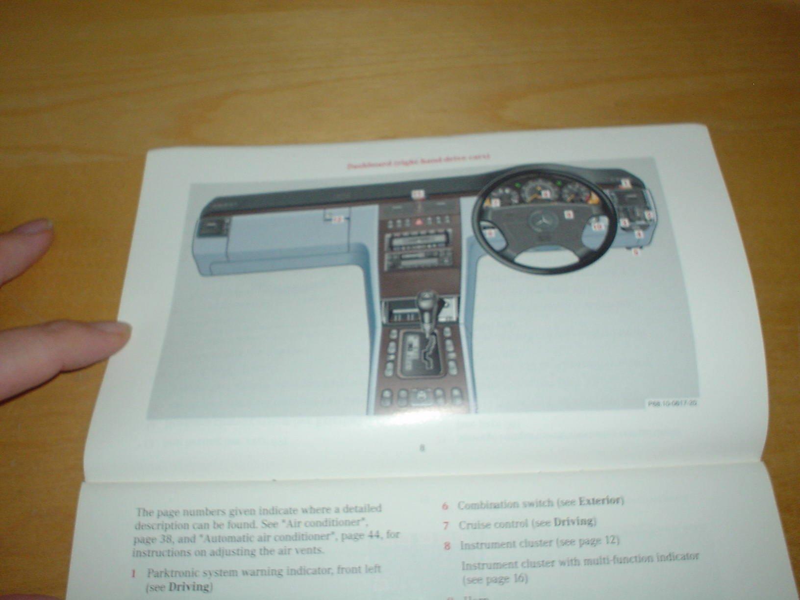 MERCEDES BENZ W210 E-CLASS OWNERS MANUAL HANDBOOK c/w WALLET 1995 - 2002 SALOON & ESTATE - E200 E240 E250 DIESEL E280 4matic E290 TURBODIESEL E300 turbo ...
