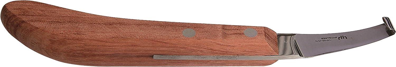 Hauptner & Herberholz 40601000 - Cuchillo para pezuñas (Hoja Ancha, Mango geométrico, para Caballos y Vacas de Fresno)