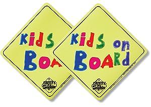 Kids on Board Car Magnet 2 Pack