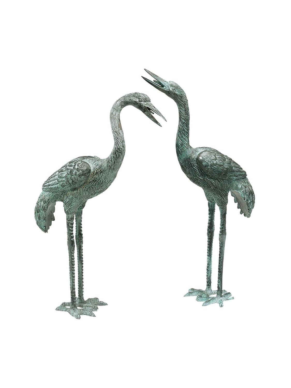 Amazon.com : Design Toscano Straight Neck Crane Statue Size: Small : Outdoor  Statues : Garden U0026 Outdoor