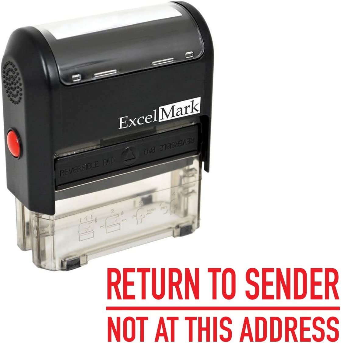 ExcelMark A2359 Self-Inking Rubber Stamp - Return to Sender Not at This Address