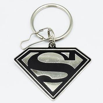 Llavero de metal con Classic DC Comics Logo en color negro y ...