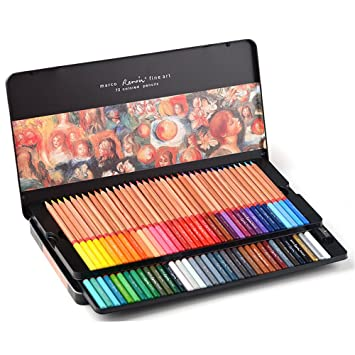 Newdoer Marco Renoir Colores óleo 72 Lápices De Colores Para Dibujar
