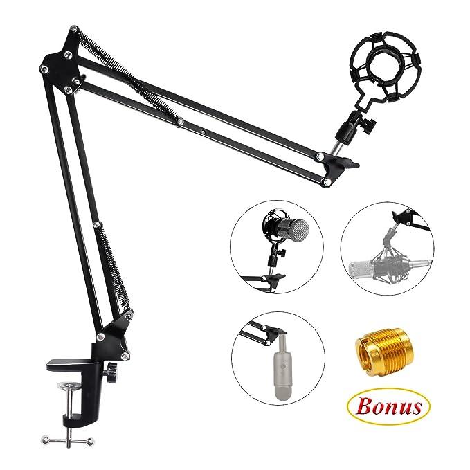 15 opinioni per Eastshining supporto microfono regolabile professionale braccio per microfono