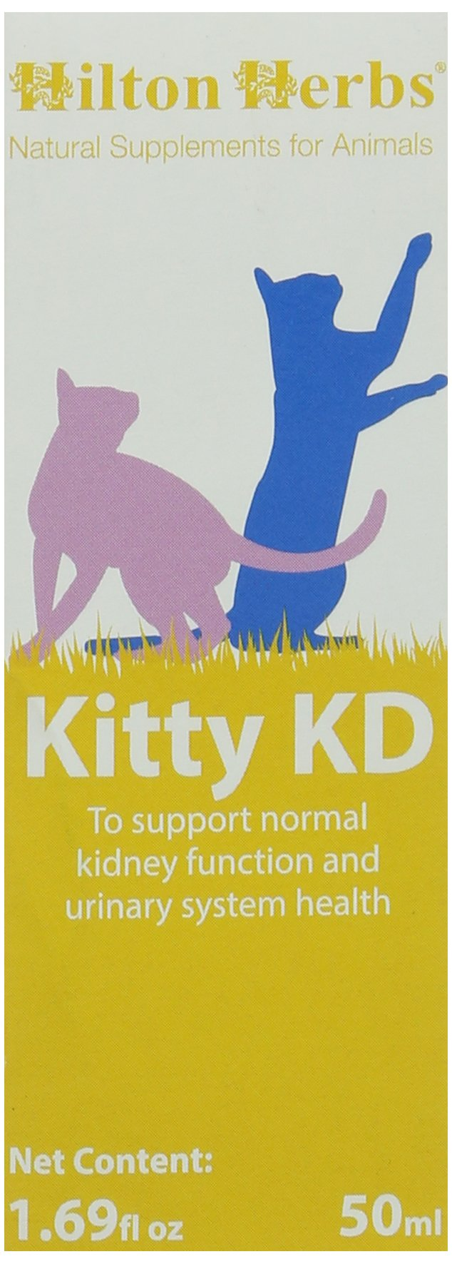 Hilton Herbs Kitty KD Herbal Supplement for Optimum Renal Function in Cats, 1.69 fl oz ( 50 ml ) Bottle by Hilton Herbs