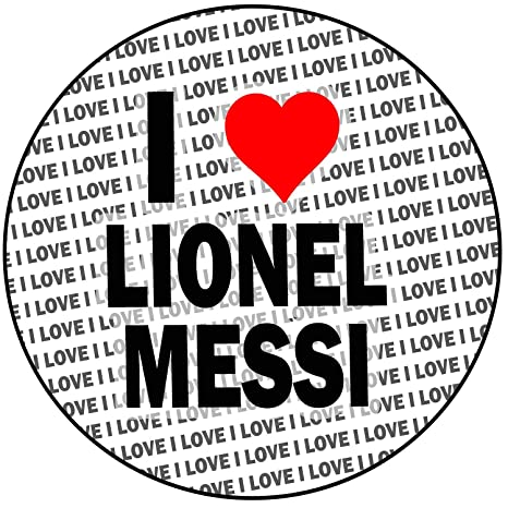 AK Giftshop I Love Lionel Messi - Decoración Redonda para ...