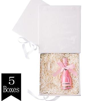 Crisky White Decorative Gift Boxes With Ribbon Birthday Gift Box Wedding Gift Box Aniversary Party Gift Box