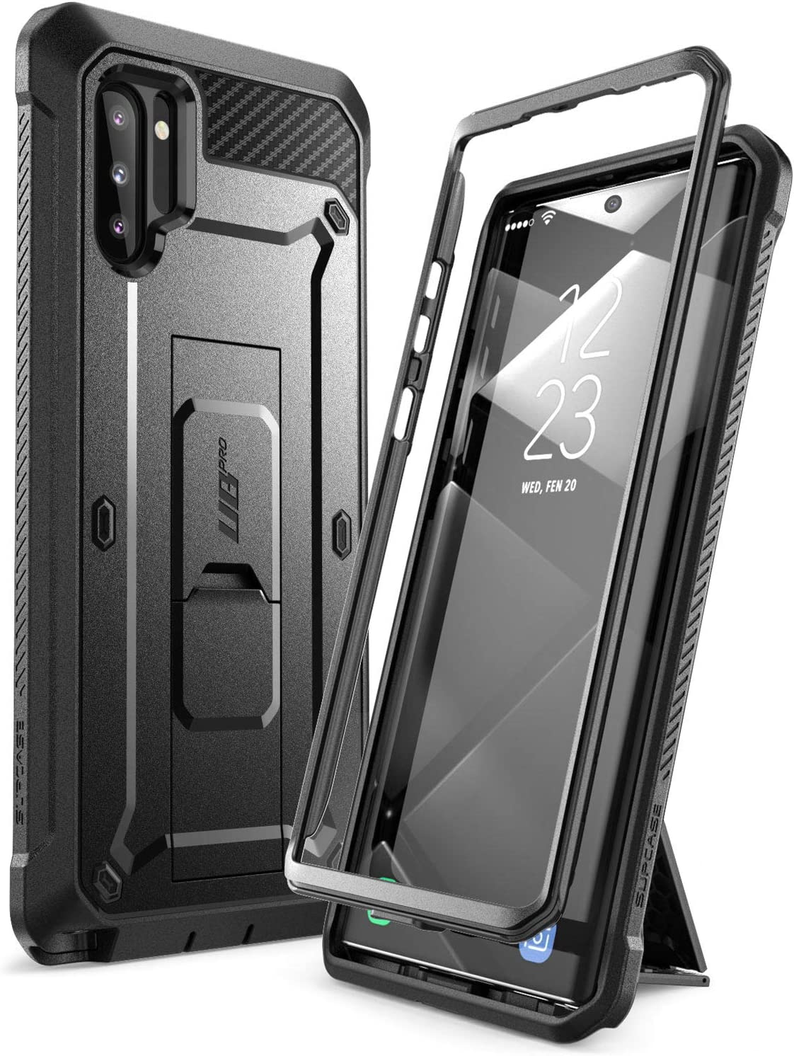 SUPCASE Unicorn Beetle Pro Series Case for Samsung Galaxy Note 10 (2019 Release), Full-Body Rugged Holster & Kickstand without Built-In Screen Protector (Black)