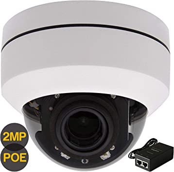 HD 1080P PTZ POE IP Dome Camera 4X Optical Pan//Tilt//4X Motorized Zoom Outdoor