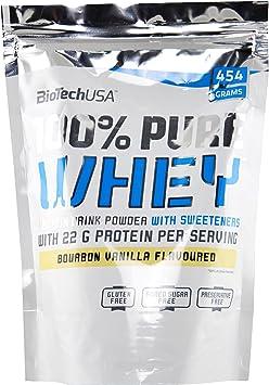 Biotech 100% Pure Whey Proteínas Avellanas - 454 gr: Amazon ...