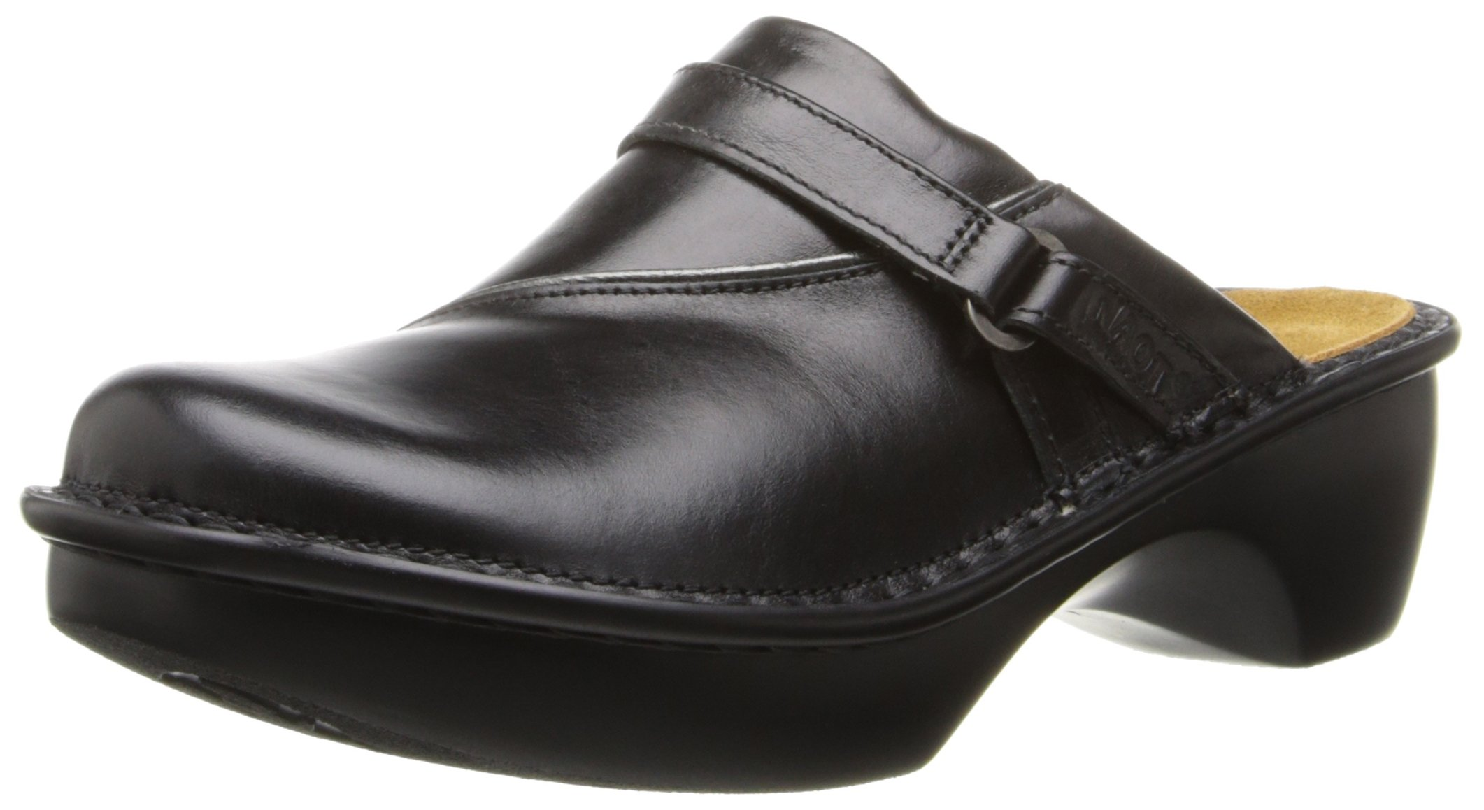Naot Women's Florence Mule, Midnight Black Leather, 41 EU/10 M-W US