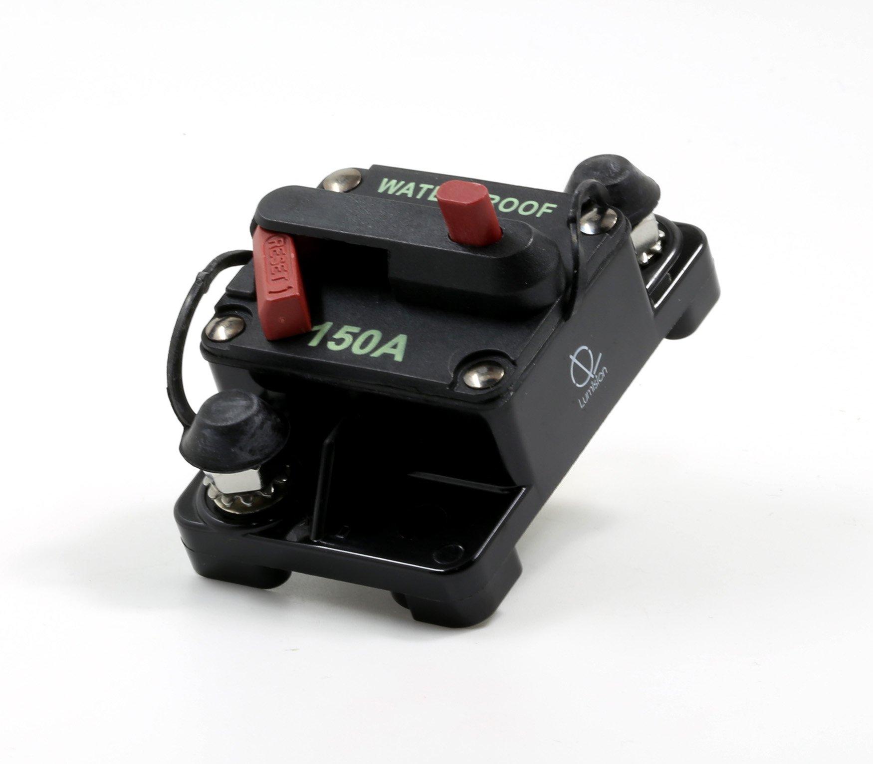 Lumision Waterproof Automotive Circuit Breaker Manual Reset upto 48VDC 150AMP