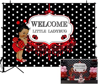 10x12 FT Photography Backdrop Ladybugs Pattern Bunch of Bugs Infinite Speckled Marked Insect Theme Playroom Kids Background for Child Baby Shower Photo Vinyl Studio Prop Photobooth Photoshoot