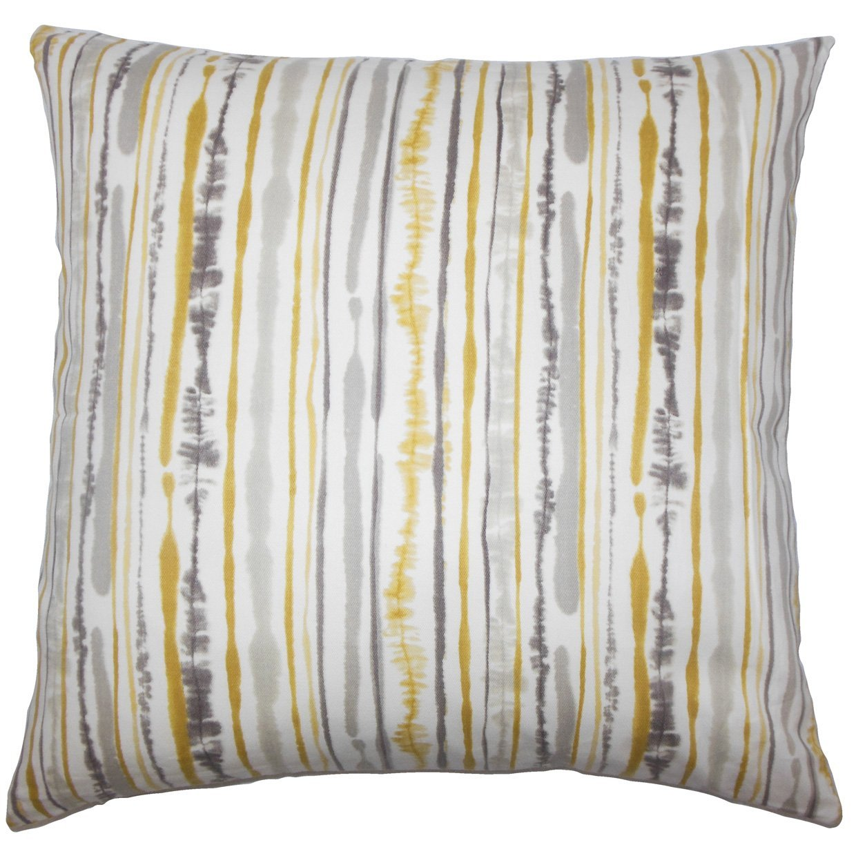 The Pillow Collection Jumoke Striped Bedding Sham Yellow Standard//20 x 26,