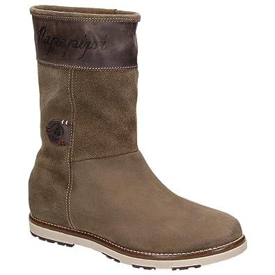 best cheap 479aa b9be9 Napapijri Damen Stiefel aus Leder LOVA MID BOOT 048 - ANTILOPE BRO