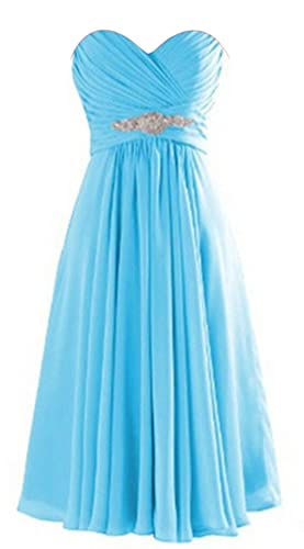 ThaliaDress Short Chiffon Sweetheart Evening Bridesmaid Dresses Prom Gowns T003LF