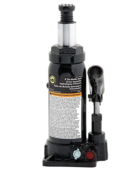Amazon.com: Omega 10065B Black Hydraulic Bottle Jack - 6 Ton Capacity: Home Improvement