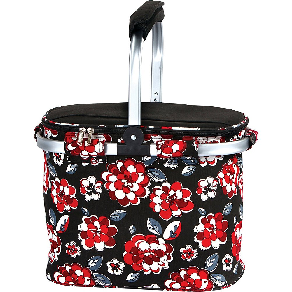 Picnic Plus-PSM-148RC Shelby Faltbare Markt Tote - ROT Carnation