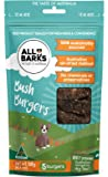 ALL BARKS Bush Burgers- 5 Burgers - 100% Kangaroo Natural Australian Dog Treats - Snacks & Rewards
