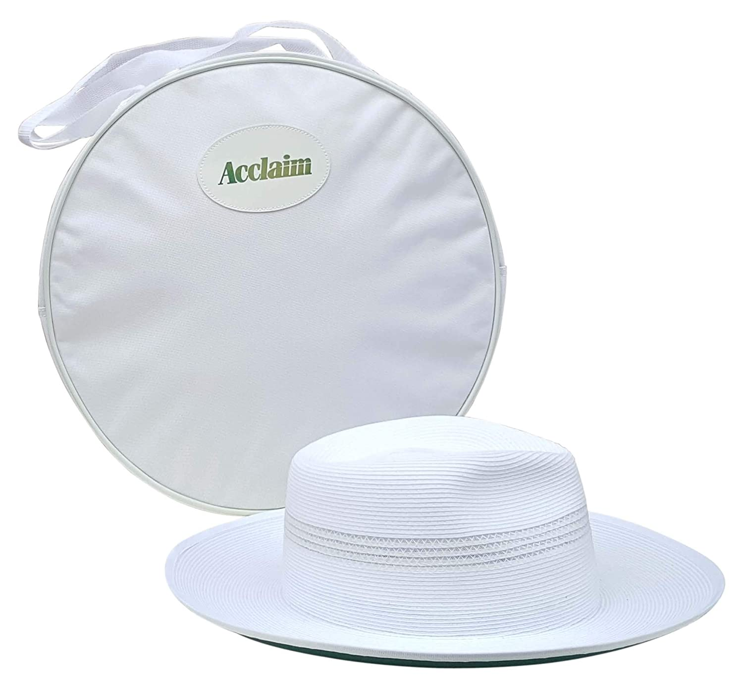 Acclaim Kalgoorlie International Cricket Umpires Hat With The Stay Put Headband & White Hat Carrying Bag