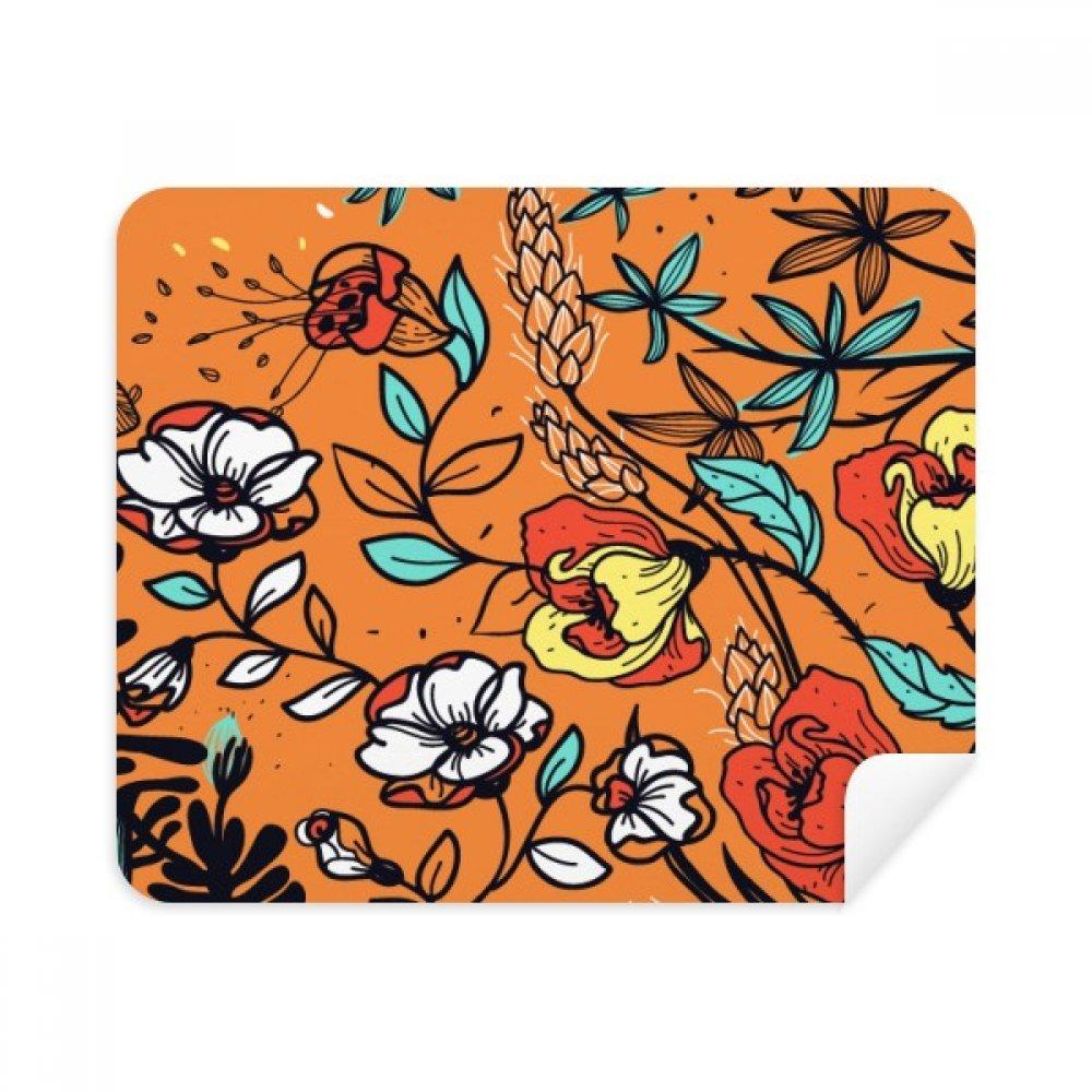 オレンジモダンアートLily Camellia電話画面クリーナーメガネクリーニングクロス2pcsスエードファブリック   B07C929ZV5