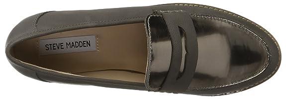 Steve Madden Malini, Mocasines Clásicos Mujer, Gris, EU 40 (US 10): Amazon.es: Zapatos y complementos