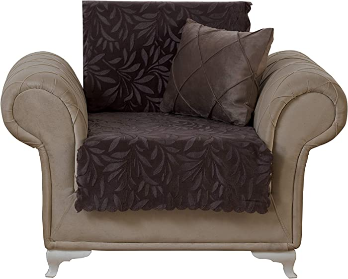 Chiara Rose Couch Covers for Dogs Sofa Cushion Slipcover 3 Seater Furniture Protectors Futon Cover, Armchair, Acacia Brown