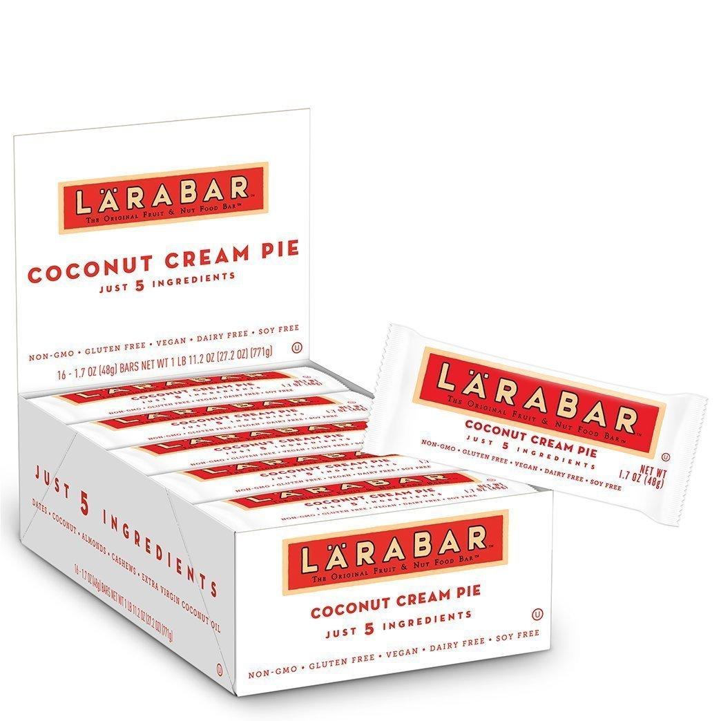 Larabar Gluten Free Bar, Coconut Cream Pie, 1.7 oz Bars (32 Count)