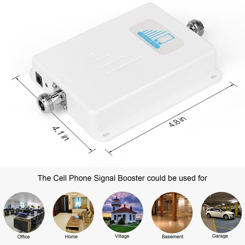 ATT T-Mobile Cell Phone Signal Booster 4G LTE Cell Signal Booster HJCINTL 700MHz Band 12/17 FDD Home Mobile Phone Signal Booster Amplifier Cover- 2500sq ft by HJCINTL (Image #2)