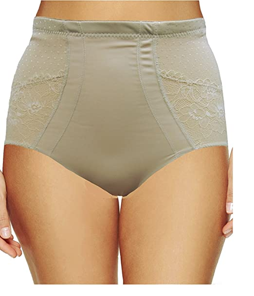 2b813a73d0c Ladies Firm Control Panty Girdle with Pretty Lace Panels Tummy Shaping and  Bottom Lift  Amazon.co.uk  Clothing
