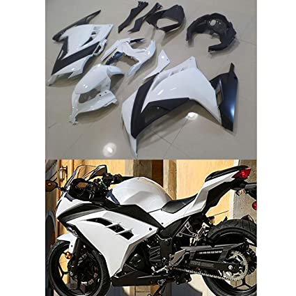 Aftermarket White Fairing Kits Fit For Kawasaki Ninja 300 2013 2014 2015 2016 Abs Injection Plastic By Moto Onfire