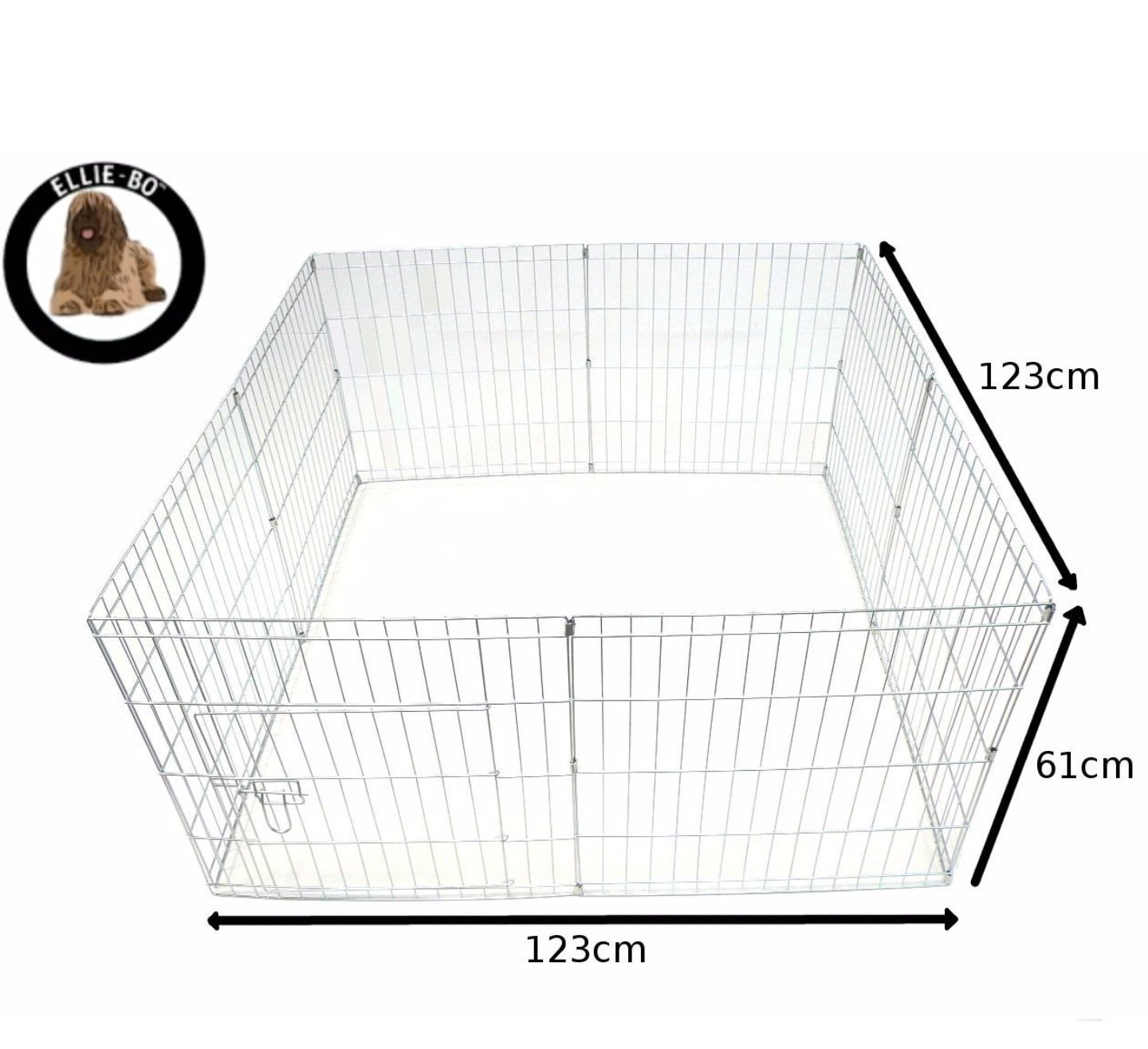 Ellie-Bo Easy-Up Puppy Rabbit Play Pen, 76 cm, Silver, 8-Piece by Ellie-Bo (Image #1)