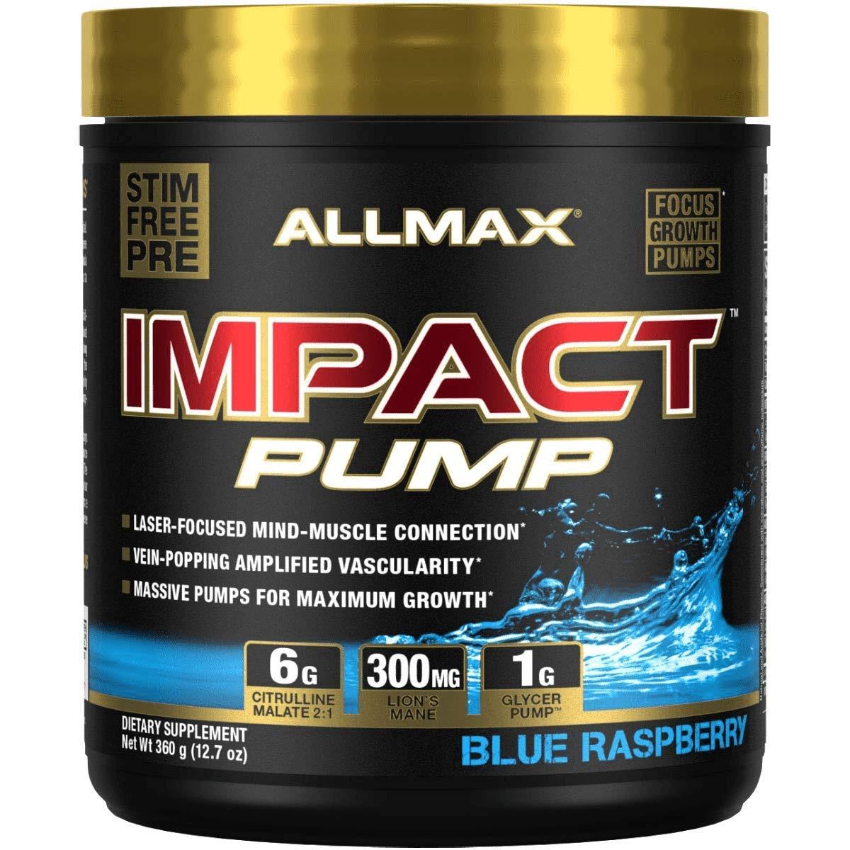 ALLMAX Nutrition Impact Pump Blue Raspberry 30 Servings