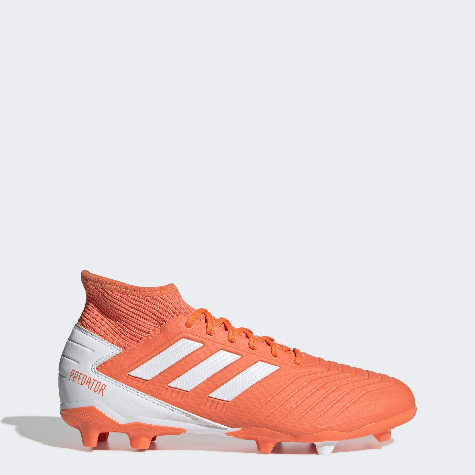 adidas Predator 19.3 Firm Ground Soccer Shoe, hi-res Coral/White/Glow Pink, 7 M US by adidas
