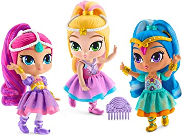 Amazon.es: Mattel- Shimmer & Shine-Pack de 3 muñecas Zahramay ...